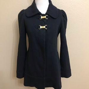 Anthropologie Elevenses Navy Blue coat